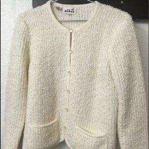 Sweaters - Albee white cardigan - M